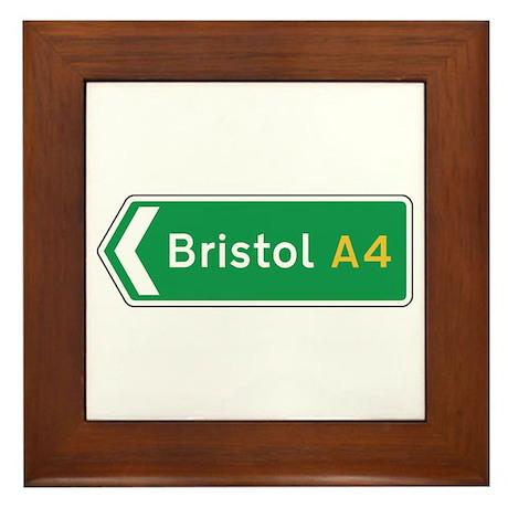 Bristol Roadmarker, UK Framed Tile