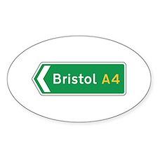 Bristol Roadmarker, UK Oval Decal