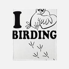 Cute Birdwatching Throw Blanket