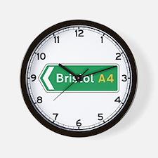 Bristol Roadmarker, UK Wall Clock