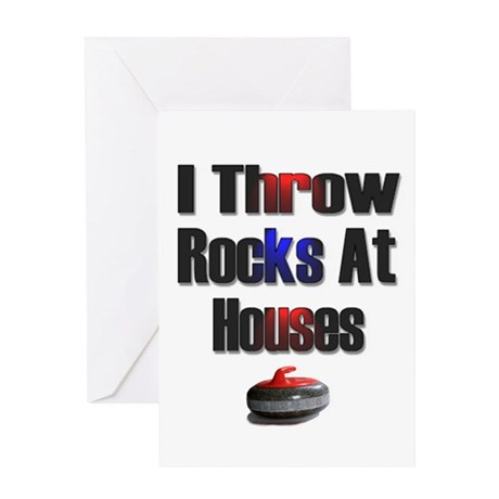 I Throw Rocks At Houses Greeting Card
