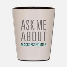 Macroeconomics Shot Glass