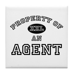 Property of an Agent Tile Coaster