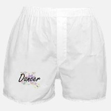 Dancer Artistic Job Design with Flowe Boxer Shorts