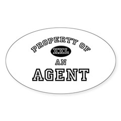 Property of an Agent Oval Decal