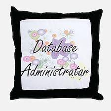 Database Administrator Artistic Job D Throw Pillow