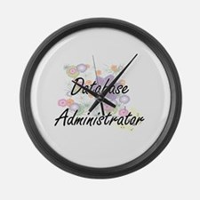 Database Administrator Artistic J Large Wall Clock
