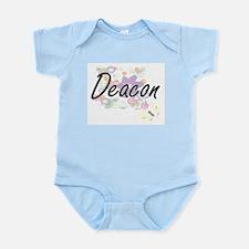 Deacon Artistic Job Design with Flowers Body Suit
