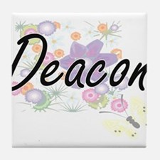 Deacon Artistic Job Design with Flowe Tile Coaster
