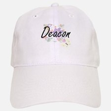 Deacon Artistic Job Design with Flowers Cap