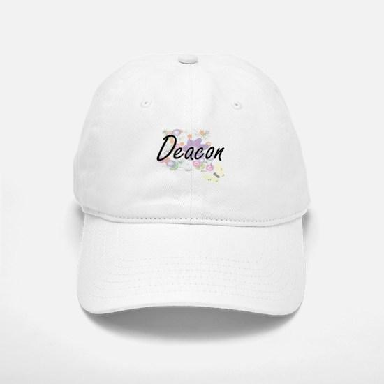 Deacon Artistic Job Design with Flowers Cap