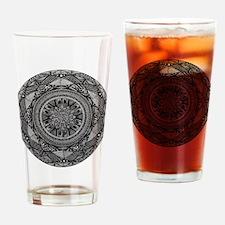 Cool Owl mandala Drinking Glass