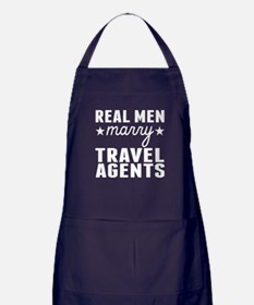 Real Men Marry Travel Agents Apron (dark)