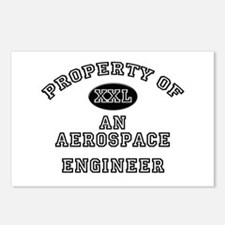 Property of an Aerospace Engineer Postcards (Packa