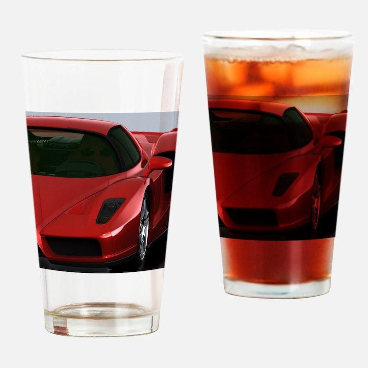 Cute F1 design Drinking Glass