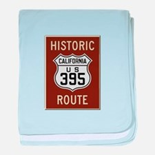 Historic Route 395 baby blanket