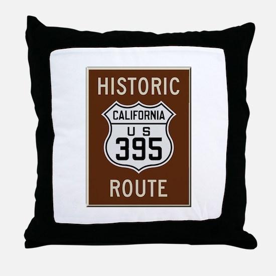 Historic Route 395 Throw Pillow