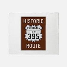 Historic Route 395 Throw Blanket