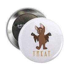 Bat-Treat-Girl Button