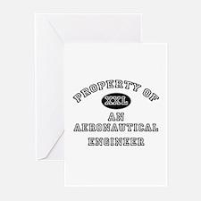 Property of an Aeronautical Engineer Greeting Card