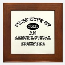 Property of an Aeronautical Engineer Framed Tile