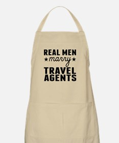 Real Men Marry Travel Agents Apron