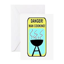 BBQ Danger! Greeting Card