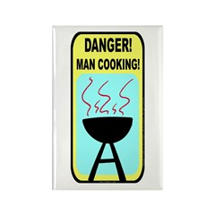 BBQ Danger! Rectangle Magnet (10 pack)