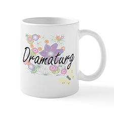 Dramaturg Artistic Job Design with Flowers Mugs