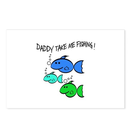 DADDY TAKE ME FISHING Postcards (Package of 8)