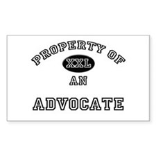 Property of an Advocate Rectangle Decal