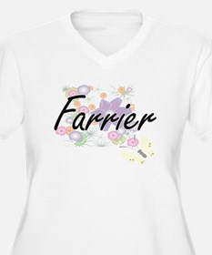 Farrier Artistic Job Design with Plus Size T-Shirt