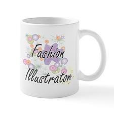Fashion Illustrator Artistic Job Design with Mugs