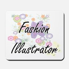 Fashion Illustrator Artistic Job Design Mousepad
