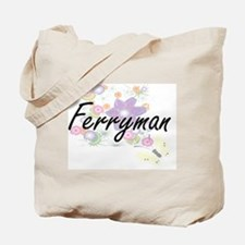 Ferryman Artistic Job Design with Flowers Tote Bag