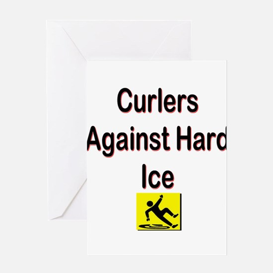 Curlers Against Hard Ice Greeting Card
