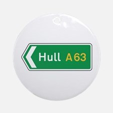 Hull Roadmarker, UK Ornament (Round)