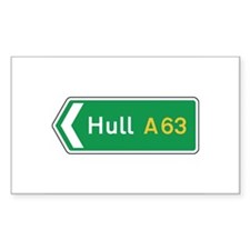 Hull Roadmarker, UK Rectangle Decal