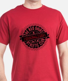 PERSONALIZED Red Shirt Athletic Retro T-Shirt