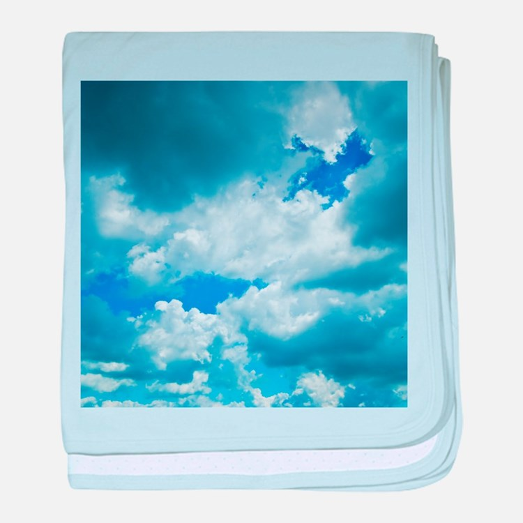 CUMULUS CLOUDS baby blanket