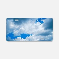 CUMULUS CLOUDS Aluminum License Plate