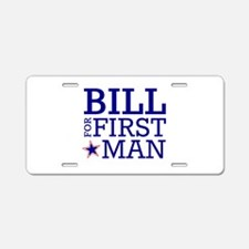 Bill for First Man Aluminum License Plate