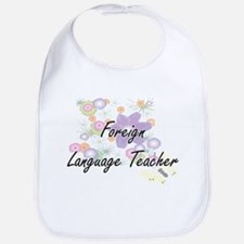 Foreign Language Teacher Artistic Job Design w Bib