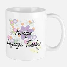 Foreign Language Teacher Artistic Job Design Mugs