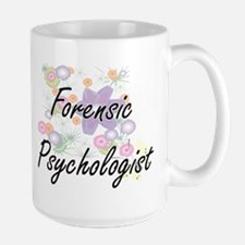 Forensic Psychologist Artistic Job Design wit Mugs