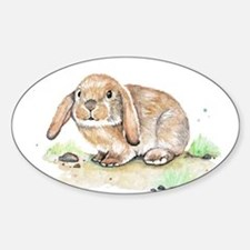 Watercolor Bunny Decal