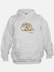 Watercolor Bunny Hoodie