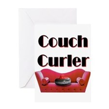 Couch Curler Greeting Card