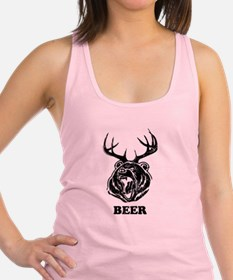 Beer, Bear-Deer Racerback Tank Top