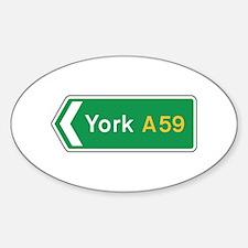 York Roadmarker, UK Oval Decal